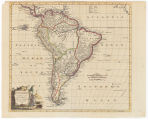 South America agreeable to the most approved maps and charts / by Tho. Conder