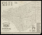Firemen's guide and map of the city of New-York shewing the boundaries of the proposed new fire...