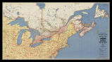 Highway map of Canada and Northern United States: Eastern sheet ; Western sheet / compiled and...