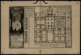 Premier plan general du monastere royal de St. Laurens au Bourg de l'Escurial pres Madrid,...