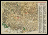 Plan guide of Barcelona = Stadt Plan von Barcelona