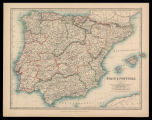 Spain & Portugal / by Keith Johnston ; engraved & printed by W. & A.K. Johnston,...