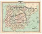 Spain and Portugal / engraved and published by G.F.Cruchley