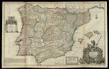 A new and exact map of Spain & Portugal, divided into its Kingdoms and Principalities