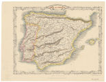 Spain and Portugal / the map drawn and engraved by J.Rapkin ; the London Printing and Publishing...