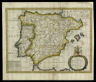 A new map of present Spain & Portugal
