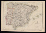Spain and Portugal: index map / engraved by Edw. Weller