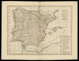 Bowles's new pocket map of the kingdoms of Spain and Portugal, according to De Lisle with...