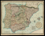 The kingdoms of Spain & Portugal / compiled & reduced from numerous topographic surveys,...
