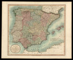 A new map of Spain and Portugal divided into their respective Kingdoms and Provinces from the...