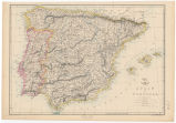 Spain & Portugal: index map / engraved by Edw. Weller