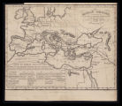 The roman empire exhibiting its coasts & internal divisions with the principal naval &...