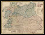 The confererated states of Germany with the empire of Austria and the kingdoms of Prussia and...