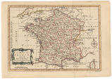 A map of France from the best authorities / engraved for Brookes Gazetteer ; J. Lodge sculp.