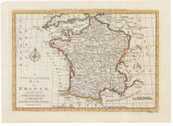 A new and accurate map of France, from the lastest improvements and regulated by astronomical...