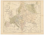 Carte de l'Europe en 1813 a l'usage des colléges