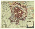 Plan of Bethune a strong town in Artois
