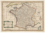 A new and correct map of France from the best authorities / sculptor John Gibson