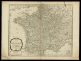 A new map of the kingdom of France divided into its governments with all the post roads according...