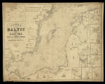 Chart of the Baltic or East sea: with plans of the principal harbours and views of the most...