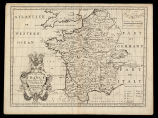 A new map of France shewing its principal divisions, cheif cities, townes, ports, rivers,...