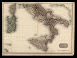 Southern Italy: Pinkerton's Modern atlas [Finestra:] Is of Malta and Gozo
