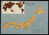 Map of Japan = Carte du Japon = Mapa del Japón = Karte von Japan