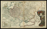 To His Most Serene and August Magesty Peter Alexovitz... this map of Moscovy, Poland, Little...