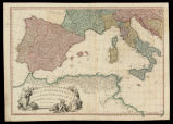 A map of the Mediterranean sea with the adjacent regions and seas in Europe, Asia and Africa / by...
