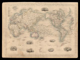 The World on Mercator's projection / drawn & engraved by J. Rapkin ; the illustrations by H....
