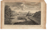 A view of Inverness in Scotland with Its Bridge over the river Ness and Fort George on an eminence...