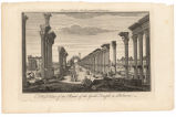 A west view of the ruins of the Great temple in Palmira: engraved for the New Geographical...