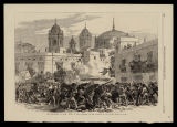 The revolution in Spain : figth at the barricade in the quarter de los Vinas, Cadiz