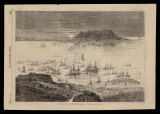 The Spanish fleet in the bay of Algesiras / from a sketch by Durand Brager