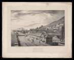 Gibraltar. North from South Bastion / Drawn on stone by T.M. Baynes from the original by H. A. West