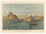 the Civil War in Spain : Aguilas, visited with requisitions by the insurgents of Carthagena